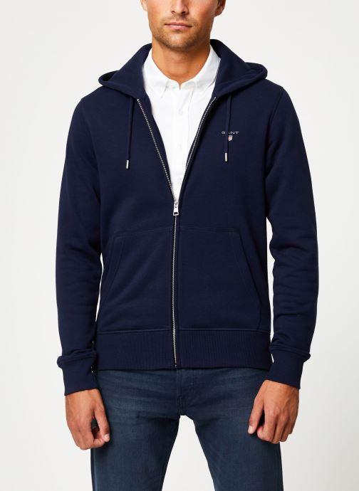 Vêtements GANT The Original Full Zip Hoodie Bleu vue détail/paire