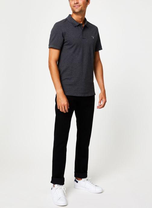 Vêtements Gant The Original Pique Ss Rugger Gris vue bas / vue portée sac