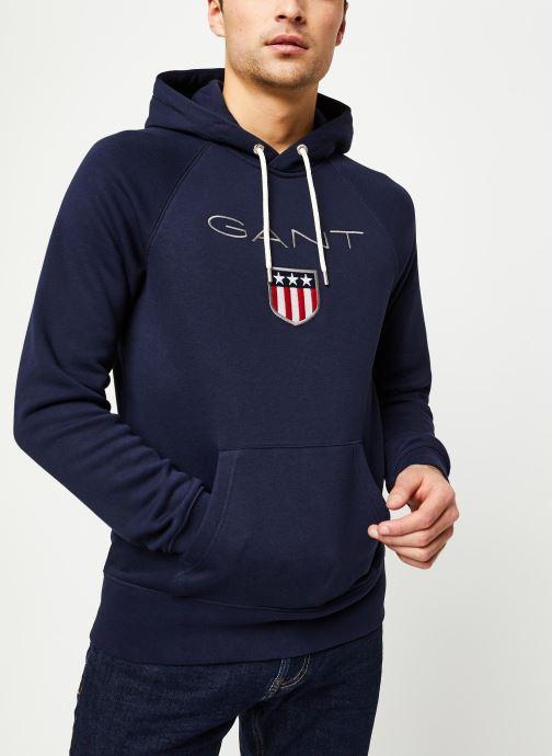 Vêtements GANT Gant Shield Hoodie Bleu vue détail/paire