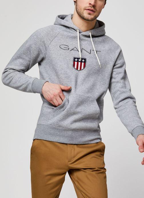 Vêtements GANT Gant Shield Hoodie Gris vue détail/paire