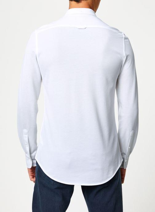 Vêtements Gant Tp Pique Solid Slim Bd Blanc vue portées chaussures