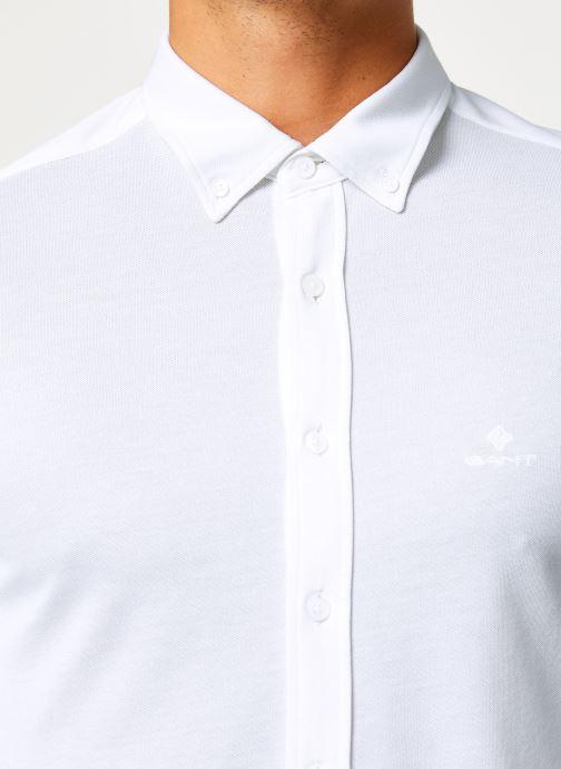 Vêtements GANT Tp Pique Solid Slim Bd Blanc vue face