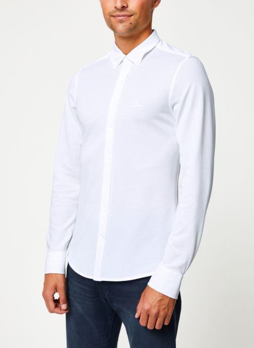 Vêtements GANT Tp Pique Solid Slim Bd Blanc vue droite