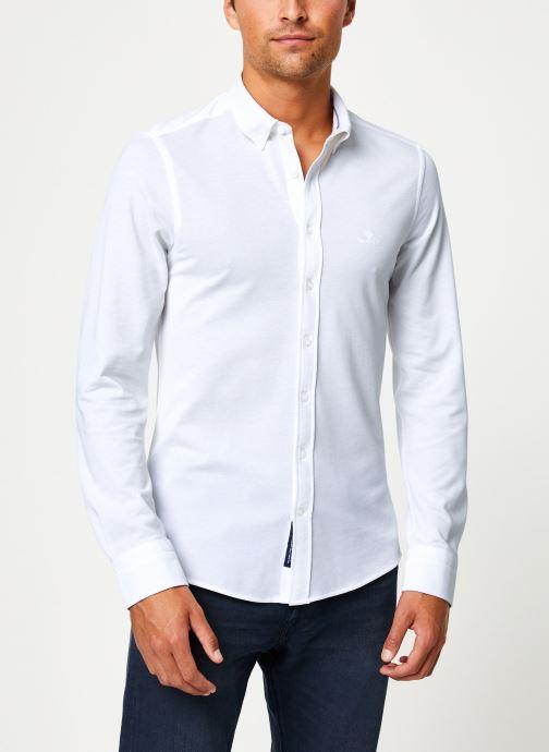 Vêtements GANT Tp Pique Solid Slim Bd Blanc vue détail/paire