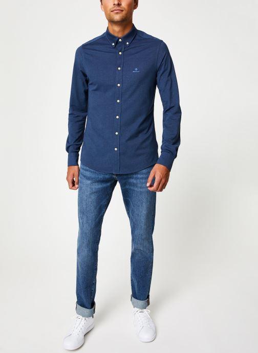 Vêtements Gant Tp Pique Solid Slim Bd Bleu vue bas / vue portée sac