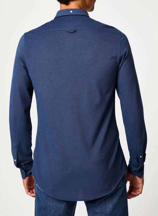 Vêtements Gant Tp Pique Solid Slim Bd Bleu vue portées chaussures