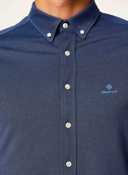 Vêtements Gant Tp Pique Solid Slim Bd Bleu vue face