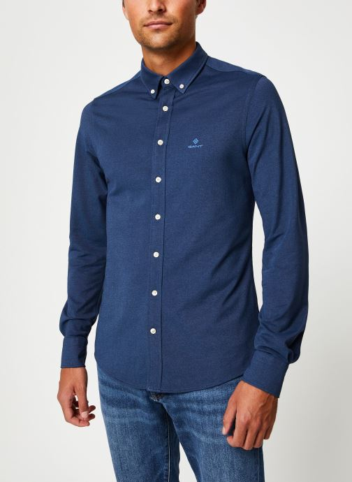 Vêtements Gant Tp Pique Solid Slim Bd Bleu vue détail/paire