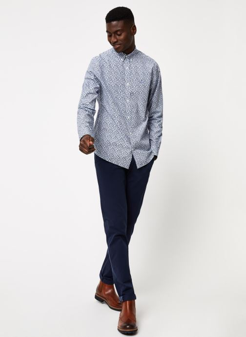 Vêtements GANT Micro Floral Print Slim Bd Blanc vue bas / vue portée sac