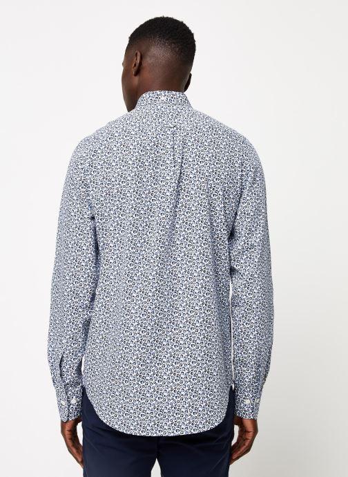 Vêtements GANT Micro Floral Print Slim Bd Blanc vue portées chaussures