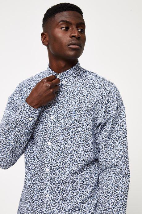 Vêtements GANT Micro Floral Print Slim Bd Blanc vue face