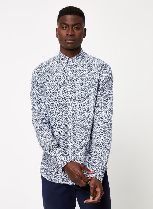 Vêtements GANT Micro Floral Print Slim Bd Blanc vue droite