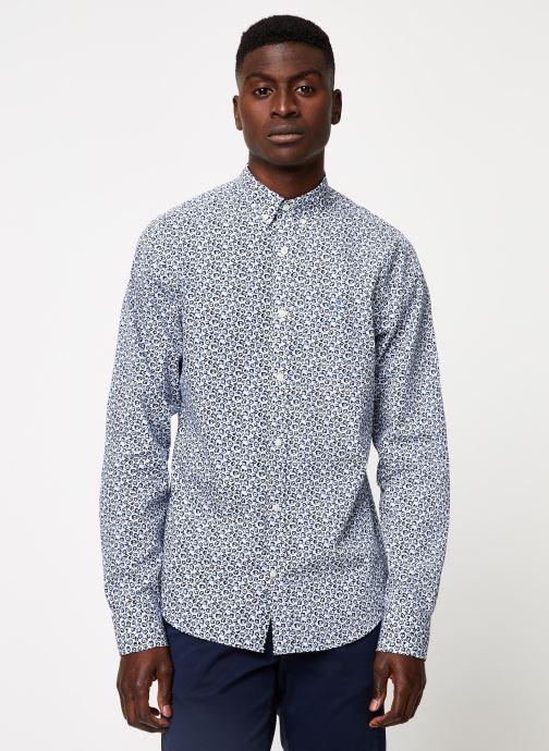 Vêtements GANT Micro Floral Print Slim Bd Blanc vue détail/paire