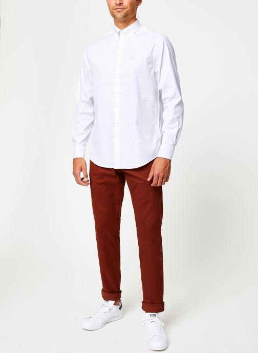 Vêtements Gant Micro Polka Dot Print Reg Lbd Blanc vue bas / vue portée sac