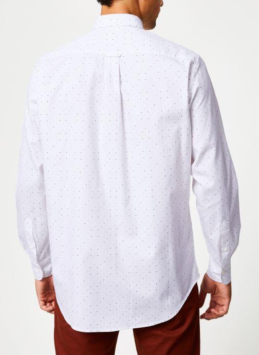 Vêtements Gant Micro Polka Dot Print Reg Lbd Blanc vue portées chaussures