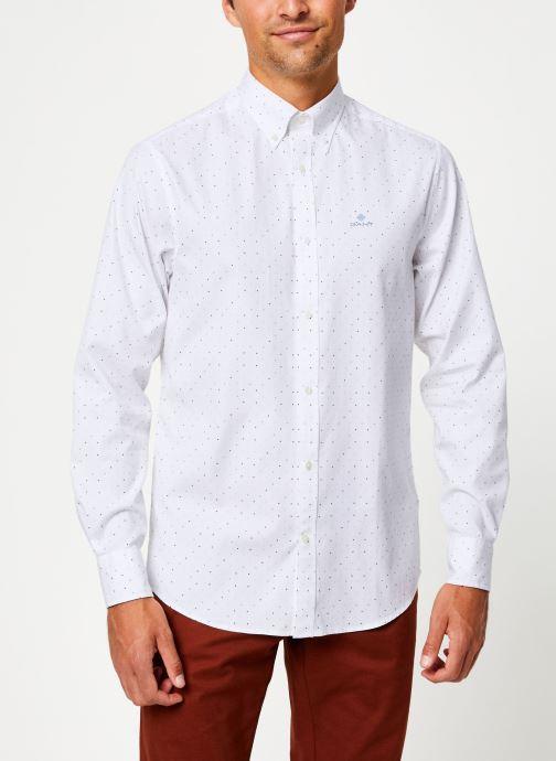 Vêtements Gant Micro Polka Dot Print Reg Lbd Blanc vue droite