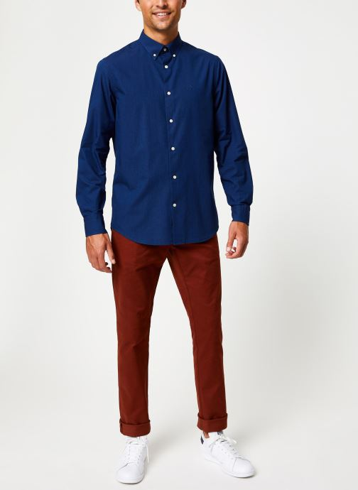 Vêtements GANT Tp Indigo Solid Reg Bd Bleu vue bas / vue portée sac