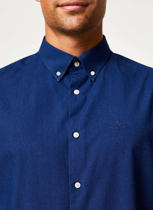 Vêtements GANT Tp Indigo Solid Reg Bd Bleu vue face