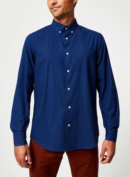 Vêtements GANT Tp Indigo Solid Reg Bd Bleu vue droite