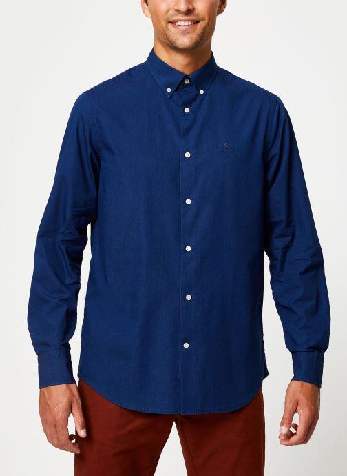 Vêtements GANT Tp Indigo Solid Reg Bd Bleu vue détail/paire