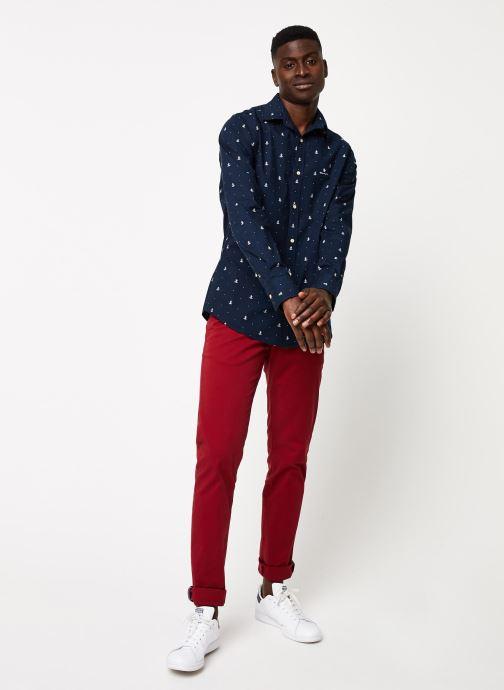 Vêtements GANT Anchor Print Slim Bd Bleu vue bas / vue portée sac
