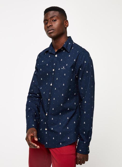 Vêtements GANT Anchor Print Slim Bd Bleu vue droite