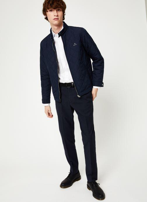 Vêtements GANT The Quilted Windcheater Bleu vue bas / vue portée sac