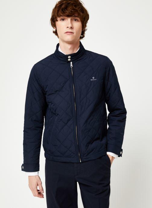 Vêtements GANT The Quilted Windcheater Bleu vue droite