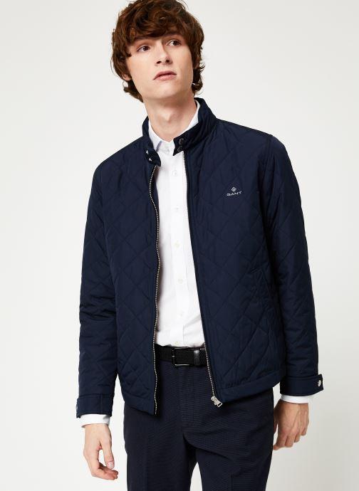 Vêtements GANT The Quilted Windcheater Bleu vue détail/paire