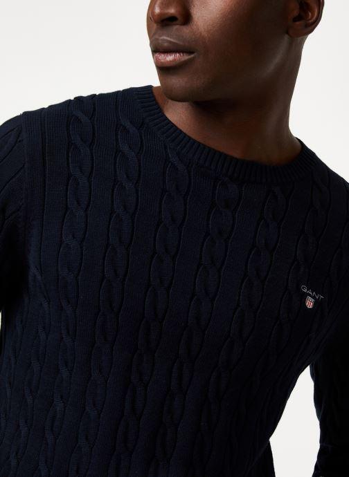 Vêtements GANT Cotton Cable Crew Bleu vue face