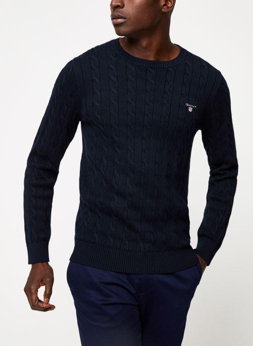 Vêtements GANT Cotton Cable Crew Bleu vue détail/paire