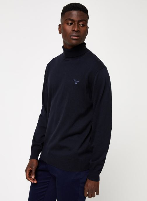 Vêtements Gant Light Weight Cotton Turtle Neck Bleu vue droite