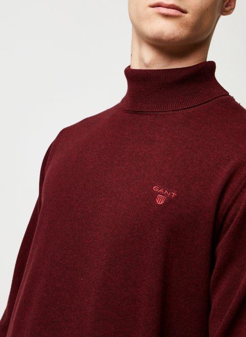 Vêtements GANT Light Weight Cotton Turtle Neck Bordeaux vue face