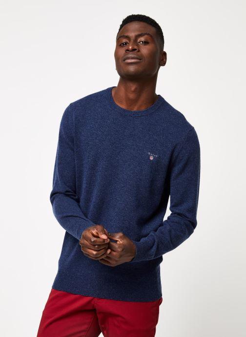 Vêtements GANT Superfine Lambswool Crew Bleu vue détail/paire