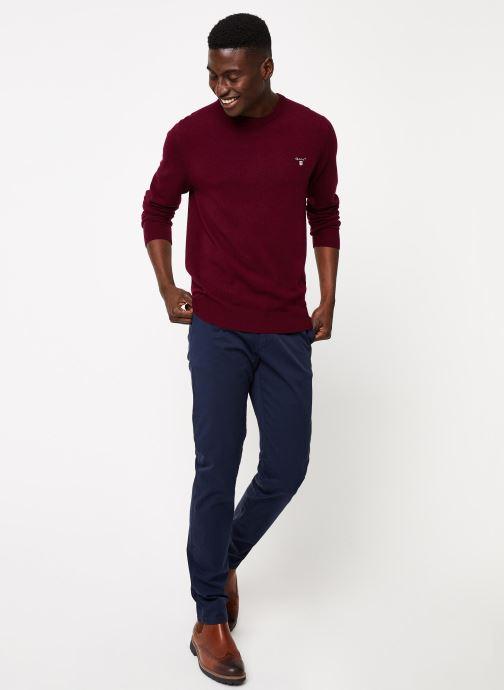 Vêtements Gant Superfine Lambswool Crew Bordeaux vue bas / vue portée sac