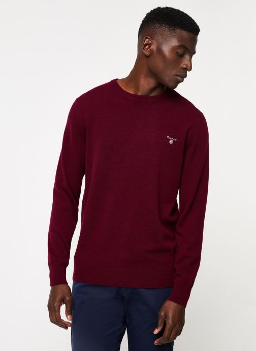 Vêtements Gant Superfine Lambswool Crew Bordeaux vue détail/paire