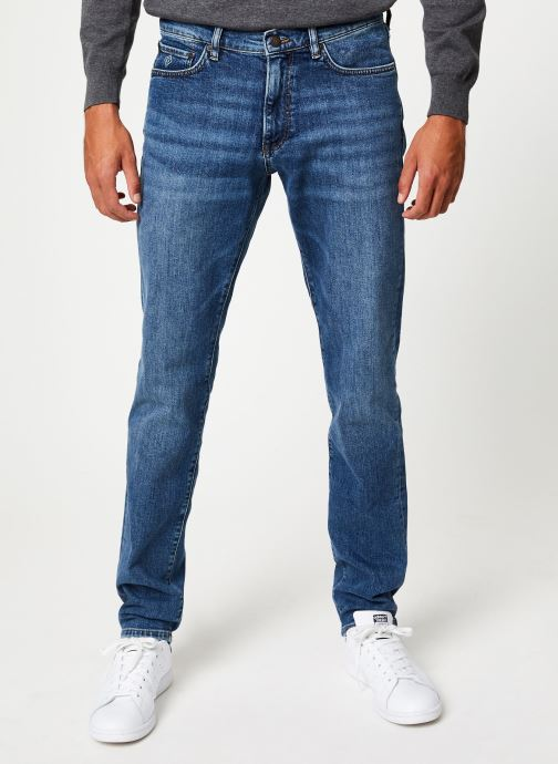 Vêtements Gant Slim Gant Jeans Bleu vue détail/paire