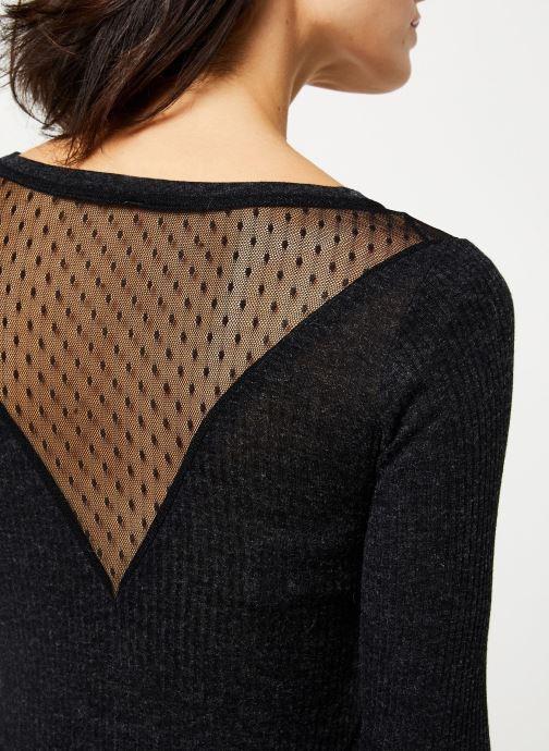 Vêtements I.Code Tee-Shirt ML dos dentelle QP10004 Gris vue face