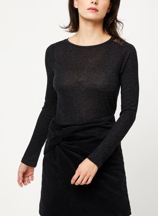 Vêtements I.Code Tee-Shirt ML dos dentelle QP10004 Gris vue détail/paire