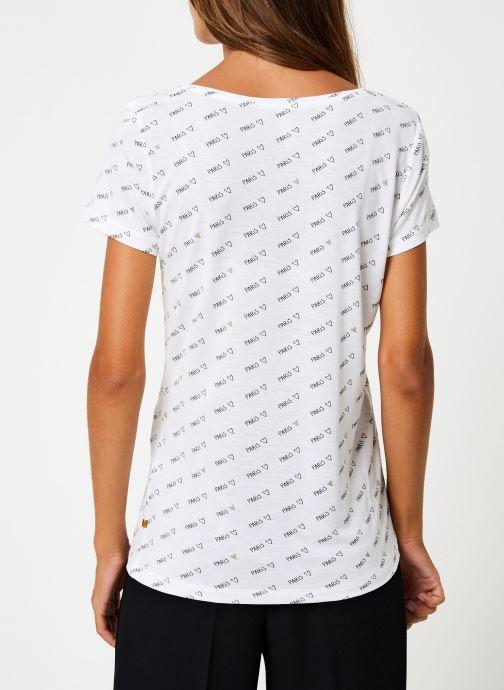 Vêtements I.Code Tee-Shirt MC Paillettes QP10044 Blanc vue portées chaussures