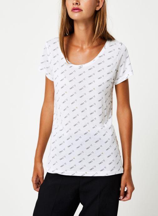 Vêtements I.Code Tee-Shirt MC Paillettes QP10044 Blanc vue droite
