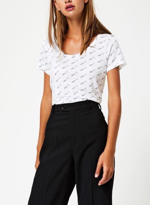Vêtements I.Code Tee-Shirt MC Paillettes QP10044 Blanc vue détail/paire