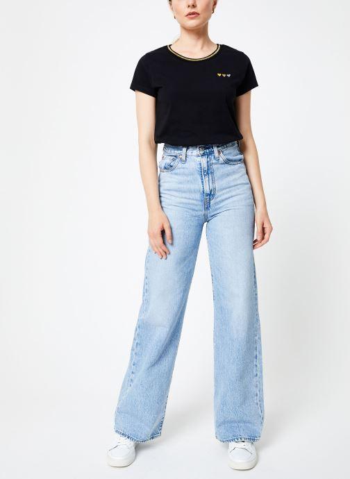 Vêtements I.Code Tee-Shirt Noir MC QP10104 Noir vue bas / vue portée sac