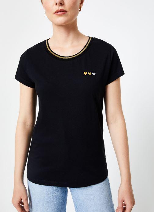 Vêtements I.Code Tee-Shirt Noir MC QP10104 Noir vue droite
