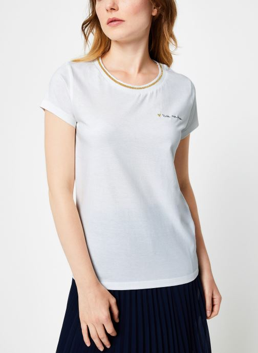 Vêtements I.Code Tee-Shirt Blanc MC QP10104 Blanc vue droite
