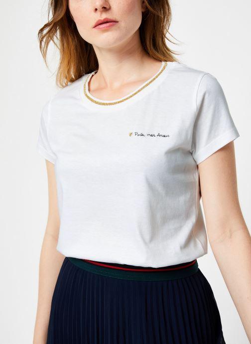 Vêtements I.Code Tee-Shirt Blanc MC QP10104 Blanc vue détail/paire