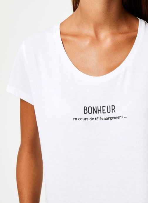 Vêtements I.Code Tee-Shirt Bonheur QP10114 Blanc vue face