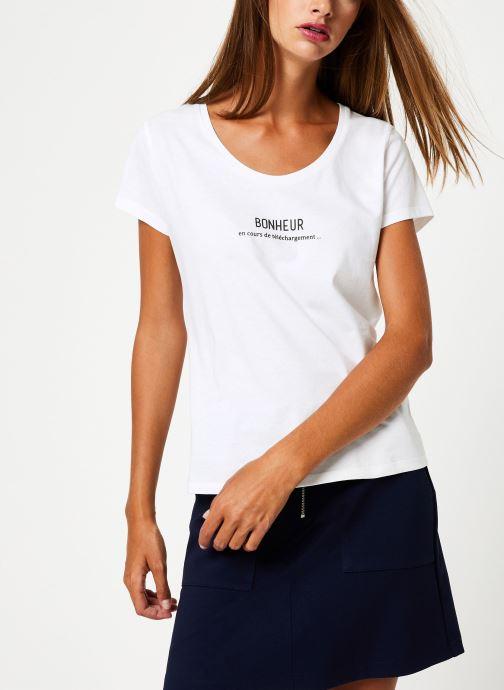 Vêtements I.Code Tee-Shirt Bonheur QP10114 Blanc vue droite