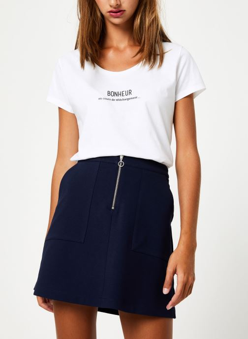 Vêtements I.Code Tee-Shirt Bonheur QP10114 Blanc vue détail/paire