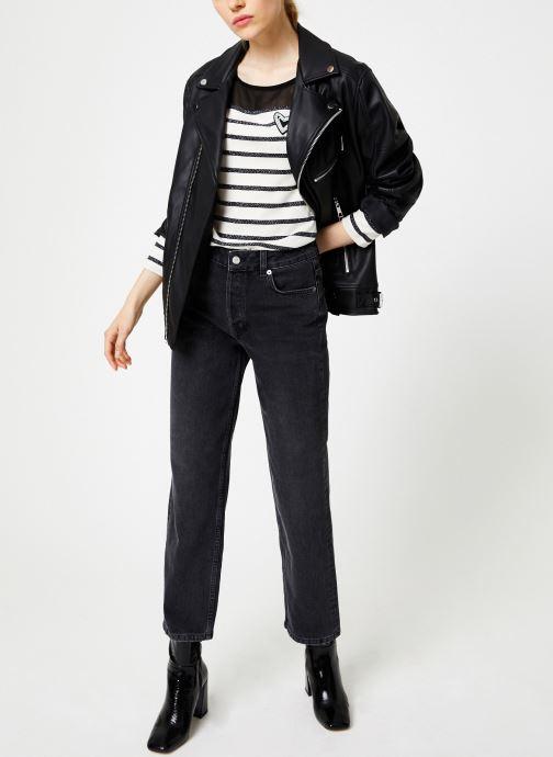 Vêtements I.Code Tee-Shirt Raye QP10134 Noir vue bas / vue portée sac
